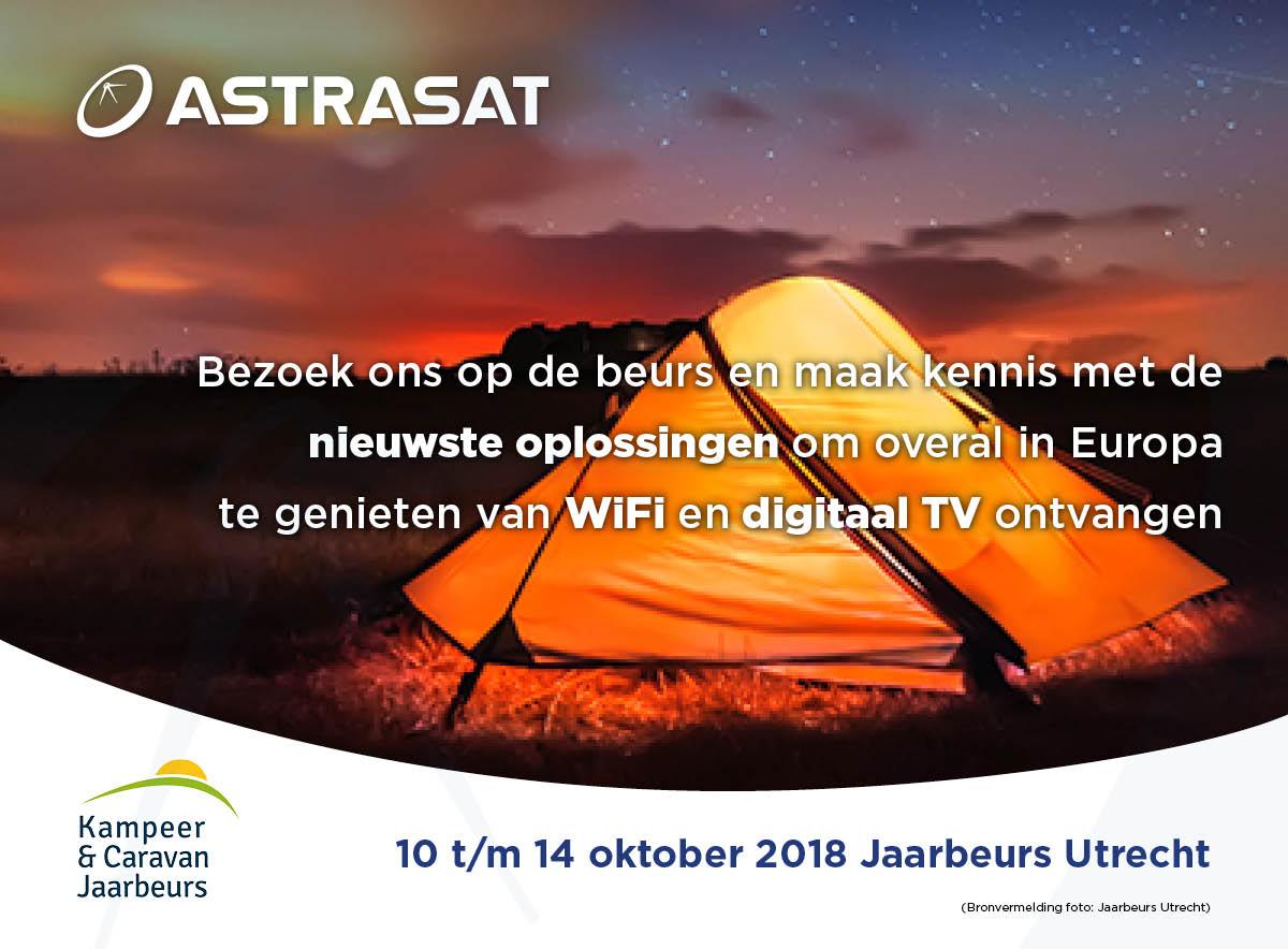 Astrasat staat op Kampeer en Caravan Jaarbeurs 2018