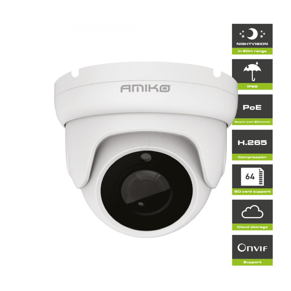 Amiko D20M500 V2 POE - Full HD 1080P - 5MP - Dome Camera