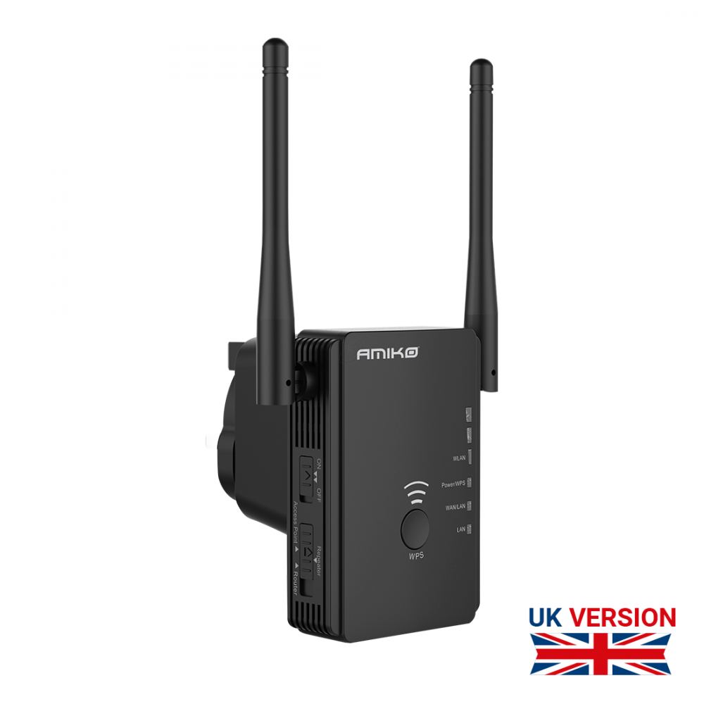 Amiko WR-532 - N300 Wireless Router / Repeater / Access point - Speciale UK PLUG