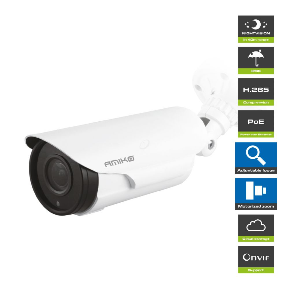 Amiko Home B40M500ZOOM POE - 5MP - Full HD