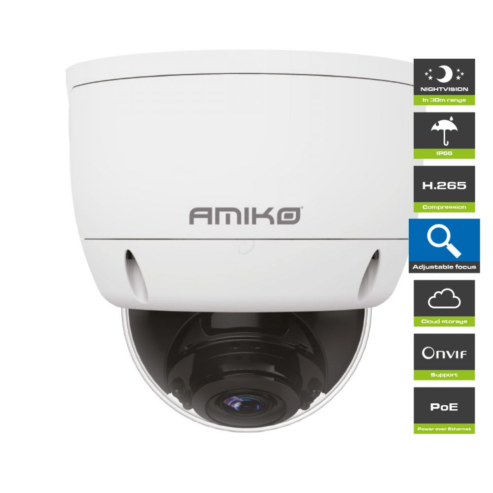 Amiko Home D30M510MF POE - 5 MP - Dome Camera