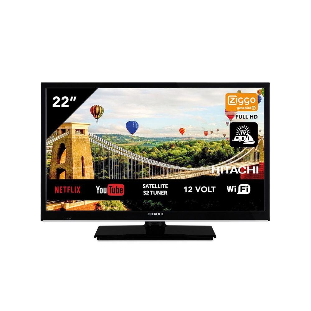 Hitachi 22HE4202 Smart Wifi 22 inch 56cm Full HD LED TV DVB-S2/C/T2 - 12V en 220V