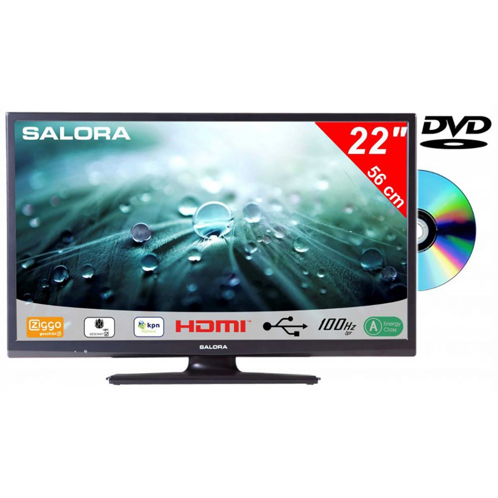 Salora - 22LED9109CT2S2 - DVD - 12V - Canaldigitaal