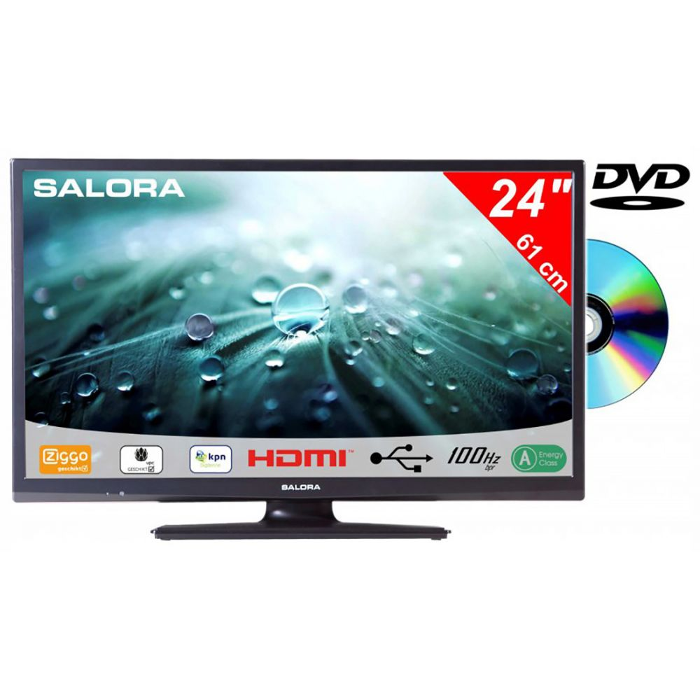 Salora - 24LED9109CT2S2 - DVD - 12V - Canaldigitaal