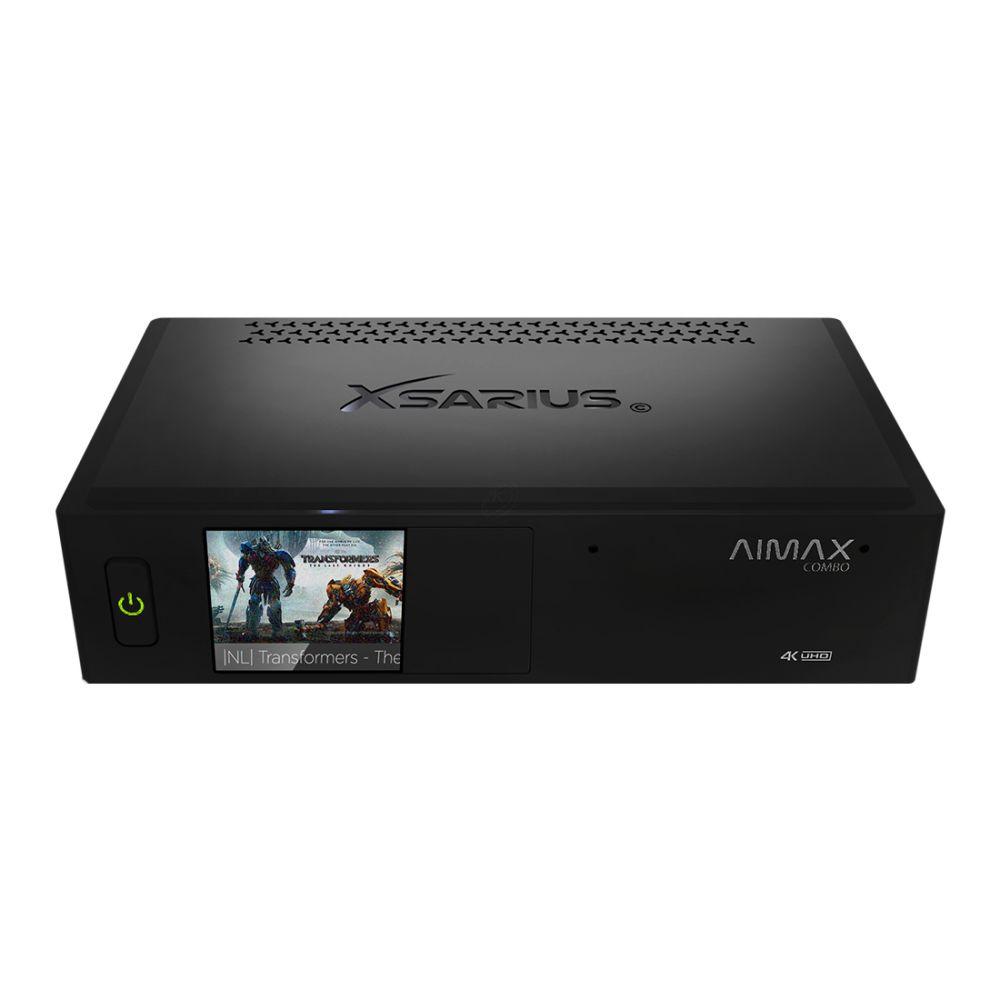 Xsarius Aimax Combo DVB-S2X en Hybrid DVB-C/T2 - 4K UHD - AndroidTV - IR & Bluetooth RCU