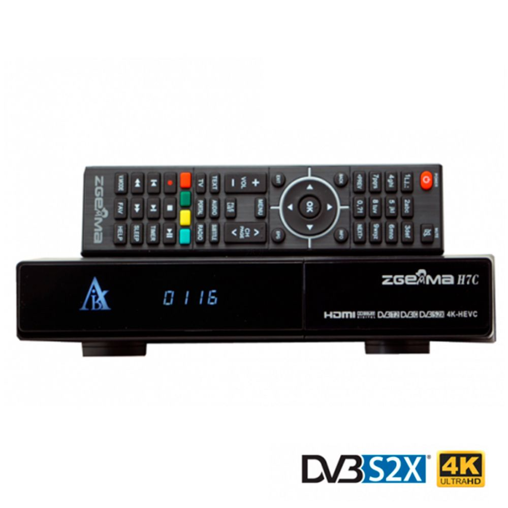 Zgemma H7C - 4K Receiver - H.265 UHD - DVB-S2X + 2 x DVB-T2/C