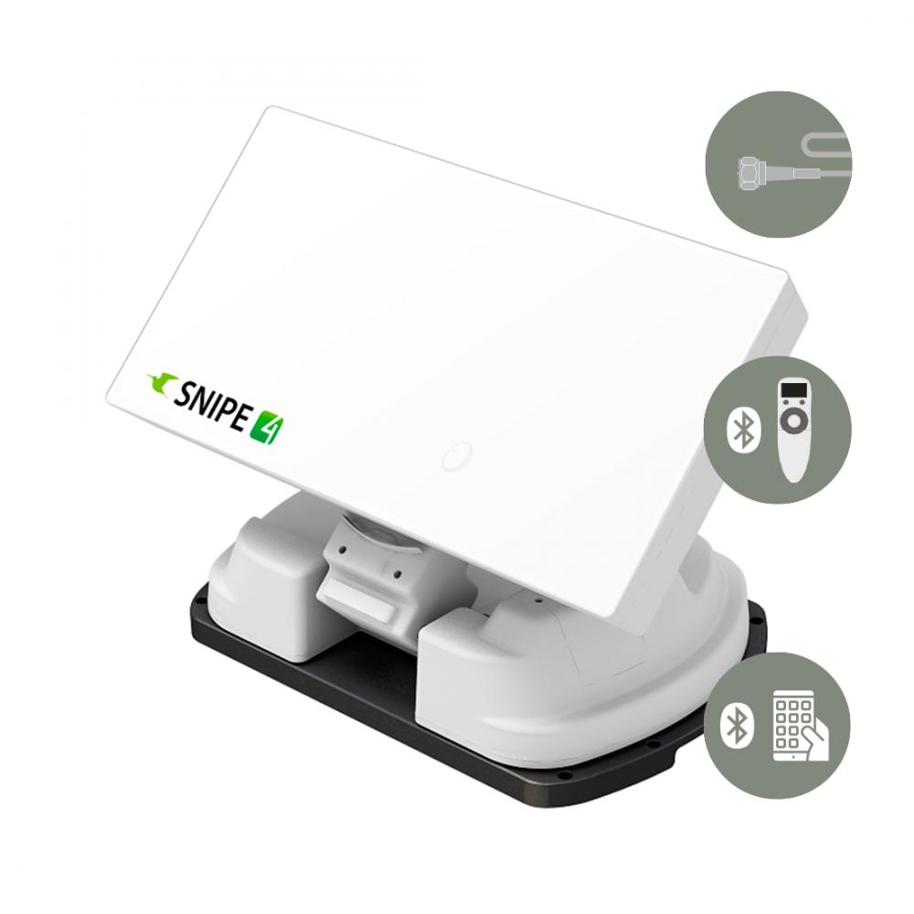 Selfsat Snipe 4 Single - Bluetooth - Volautomatische vlak schotelantenne