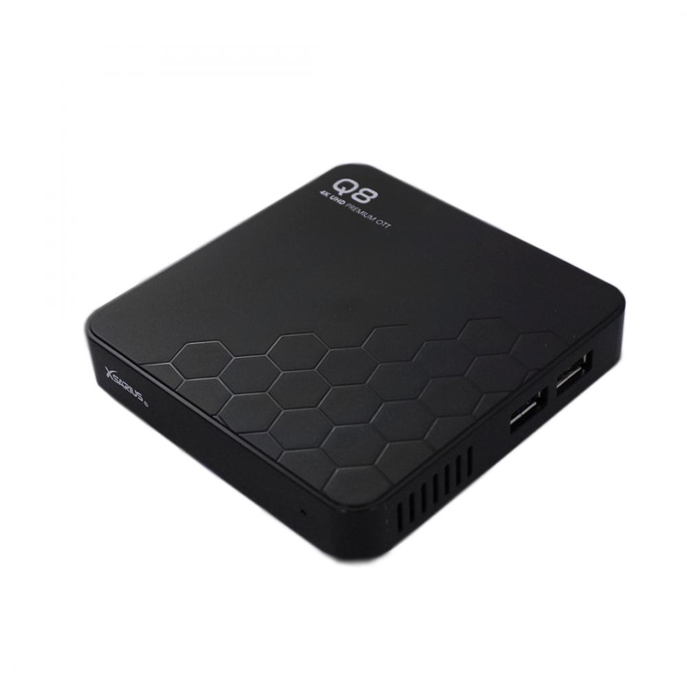 Xsarius Q8 V2 - 4K UHD - Premium OTT Media Streamer - Android 8.0 Oreo