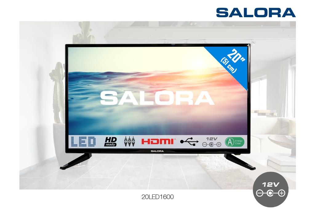 Salora 20LED1600 20 inch HD LED TV met USB mediaspeler en 12V aansluiting