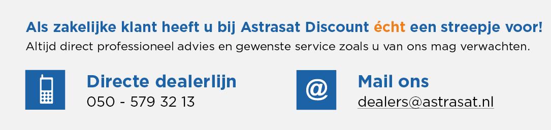 Als zakelijke klant heeft u bij Astrasat Discount écht een streepje voor!